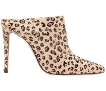 Davidson Leopard-print Calf Hair Mules