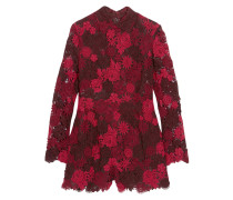 Guipure Lace And Silk-organza Playsuit Rot