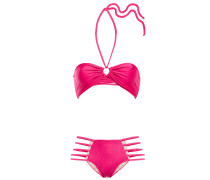 Cutout Gathered Bandeau Bikini