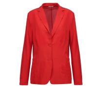 Silk-crepe blazer