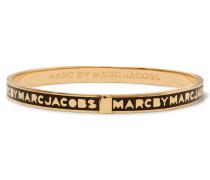 Gold-tone Enamel Bracelet Schwarz