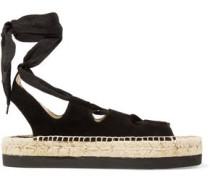 Anita lace-up suede espadrille sandals