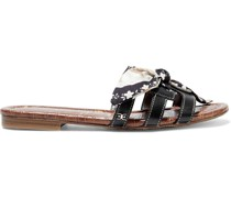 Bay Bow-embellished Cutout Leather Sandals