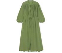 Julienne Gathered Silk Crepe De Chine Maxi Dress