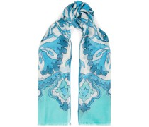 Printed Cashmere And Silk-blend Twill Scarf