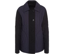 Two-tone Paneled Quilted Cotton Jacket
