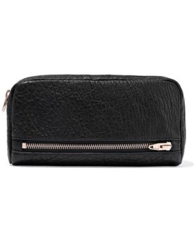 Fumo Pebbled-leather Continental Wallet Black Size --