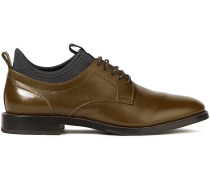 Neoprene And Leather Brogues