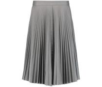 Pleated Cotton Skirt Grau