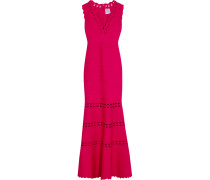 Cutout Bandage Gown Signalrot