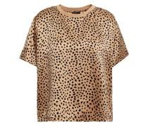 Oberteil aus Seidensatin mit Leopardenprint
