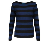 Drew Breton Striped Merino Wool Sweater Schwarz
