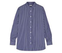 Capri striped cotton-poplin shirt