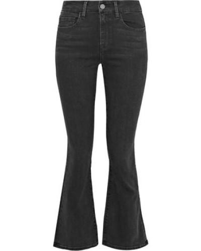 Rebecca High-rise Kick-flare Jeans Black  4