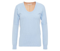 Two-tone Cotton And Cashmere-blend Sweater