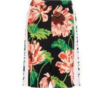 Zandra floral-print stretch-crepe shorts