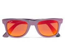 The Wayfarer Metallic Acetate Sunglasses Blau