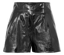 + Pernille Teisbaek Destiny Shorts aus Strukturiertem Leder mit Falten