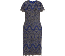 Gwyn Embroidered Tulle Dress Königsblau