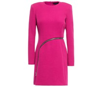 Zip-detailed Cady Mini Dress