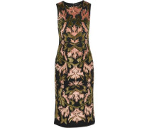 Embellished flocked tulle midi dress