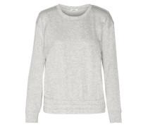 Cutout Cotton-blend Jersey Sweatshirt Hellgrau