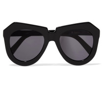 One Worship D-frame Acetate Sunglasses Schwarz
