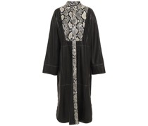 Ruby Faux Smooth And Snake-effect Leather Midi Dress