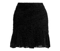 Corey Ruched Devoré-chiffon Mini Dress