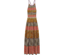 Cutout Metallic Crochet-knit Maxi Dress Mehrfarbig
