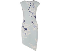 Astley asymmetric tie-dyed stretch cotton and modal-blend dress
