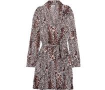 Leopard-print Pima Cotton Robe Leoparden-Print