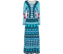 Costura Printed Stretch-jersey Maxi Dress Azurblau