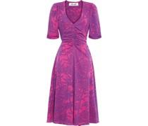 Koren Bedrucktes Kleid aus Stretch-mesh mit Raffungen