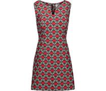 Jacquard Mini Dress Rot