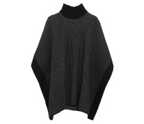 Wool Turtleneck Poncho Schiefer