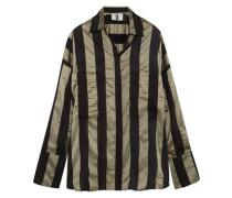 Duvall oversized striped satin shirt