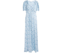 Stacy Floral-print Washed Silk-satin Maxi Dress