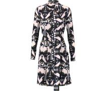 Printed Silk-crepe Dress Mehrfarbig