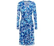 Brenda Bedrucktes Kleid aus Stretch-mesh mit Wickeleffekt