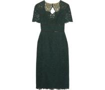 Cutout Lace Midi Dress Dunkelgrün