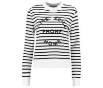 EC Phone Home printed striped cotton-jersey sweatshirt