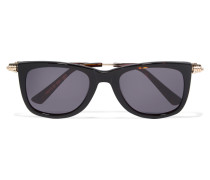Square-frame Gold-tone And Acetate Sunglasses Horn