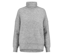 Felt Turtleneck Sweater Hellgrau