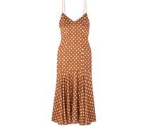 Kai Kleid aus Seidensatin mit Polka-dots