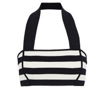 Janet Striped Stretch-knit Halterneck Bra Top