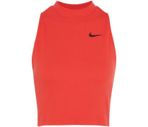 Dry cropped ribbed Dri-FIT stretch-jersey tank