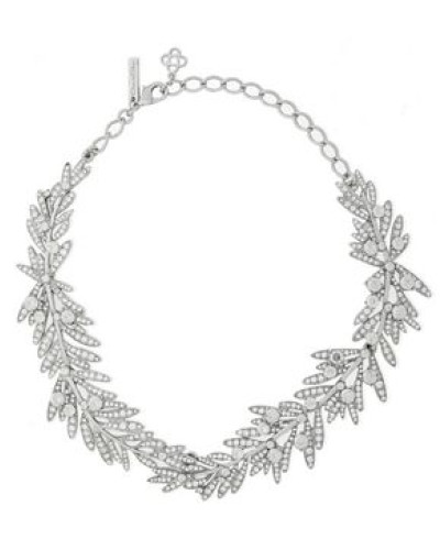 Silver-tone Crystal Necklace Silver Size --