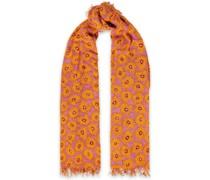 Schal aus Gaze aus Einer Kaschmir-seidenmischung mit Floralem Print