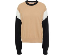 Pullover aus Merinowolle in Colour-block-optik
